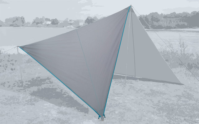 Bent Canvas Plain Set Tarp high rise / zipper light blue