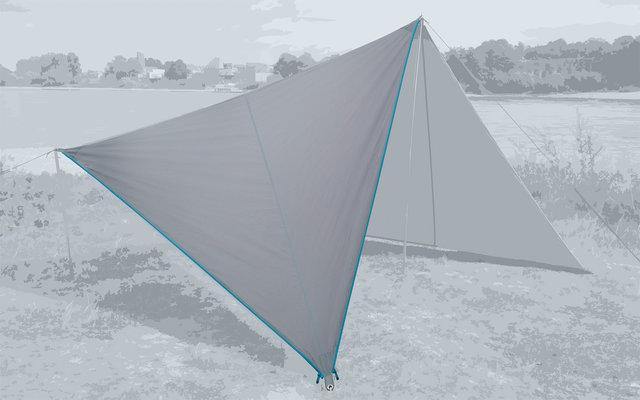 Bent Canvas Plain Set Tarp high rise / zipper light blue