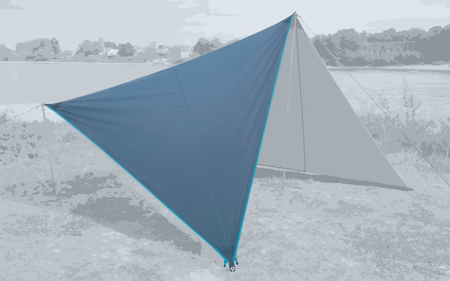 Bent Canvas Plain Set Tarp sepia blue / zipper light blue