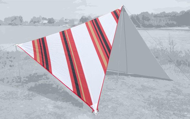 Bent Canvas Allover Set Tarp Oriental stripe white / zipper red