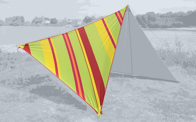 Bent Canvas Allover Set Tarp Caribbean stripe lime punch / zipper red