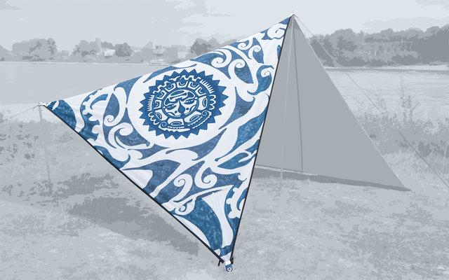 Bent Canvas Allover Set Tarp New Zealand sunprint / zipper black