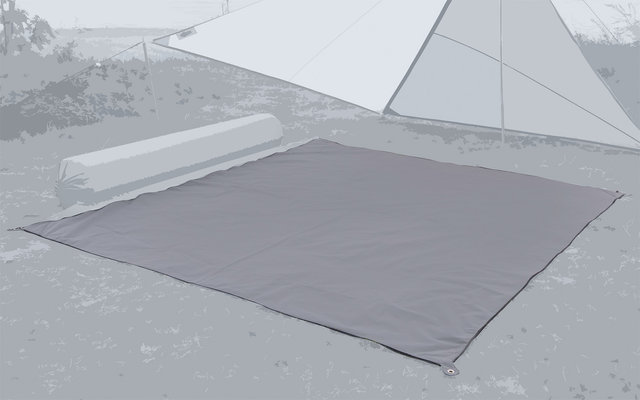 Bent Carpet Teppich steel grey