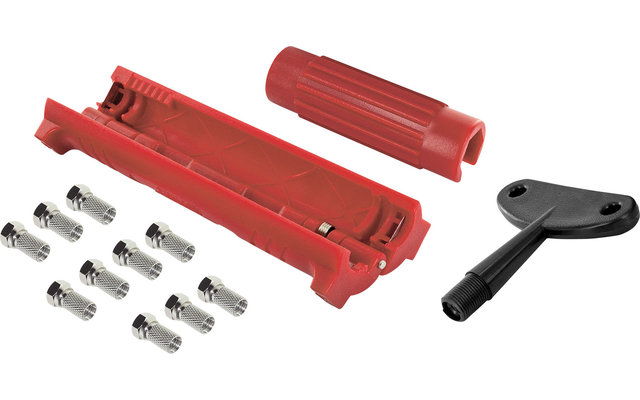 InnTec F-Stecker Montageset mit Abisolierer und Aufdrehhilfe
