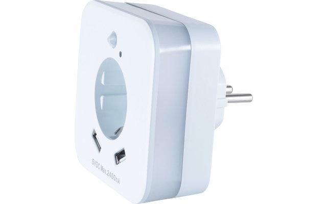 InnTec LED Nachtlicht mit Bewegungssensor, Steckdose und USB-Buchsen