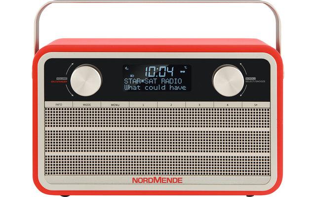 TechniSat Nordmende DAB+ Transita 120 Digitalradio im Retrolook mit 24-Stunden-Akku Rot
