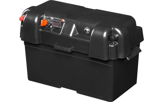PAT Batteriebox V02 mit USB-Steckdose, 12V-Steckdose & Voltmeter IP44
