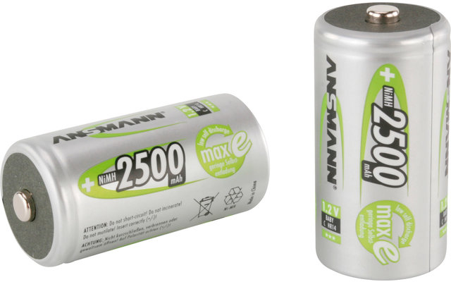 Ansmann Baby C 2.500 mAh NiMH Akkubatterie Wiederaufladbar (2er Pack)