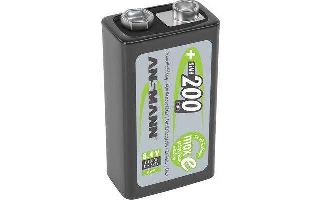 Ansmann 9 V E-Block 200 mAh NiMH Akkubatterie Wiederaufladbar (1er Pack)