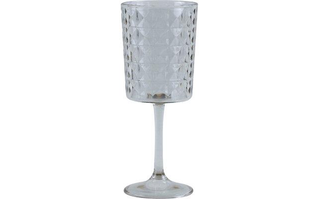 Gimex Kunststoff Weinglas Stone Line Kristallklar 400 ml