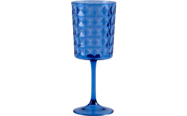 Gimex Kunststoff Weinglas Stone Line Azur 400 ml