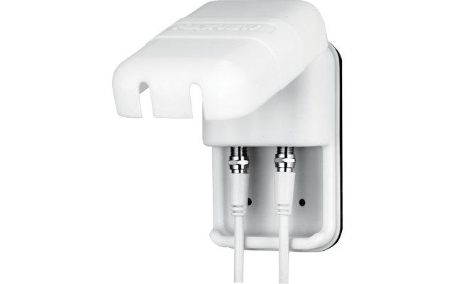Maxview Sat-Außensteckdose Twin F-Anschluss / Koax Weiß
