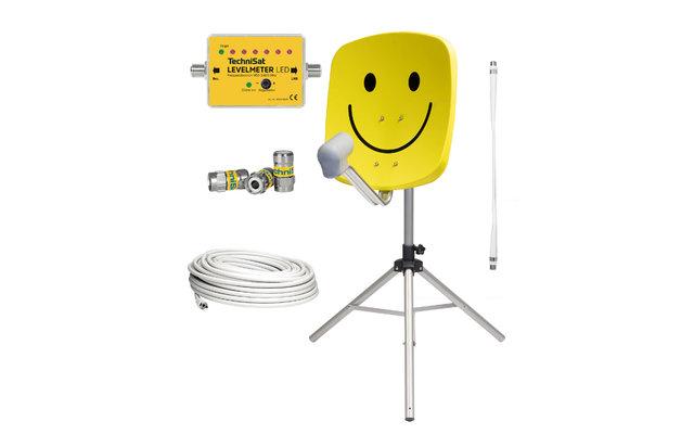 TechniSat  Satman 45 Camping Sat-Anlage Komplettset Smiley Gelb