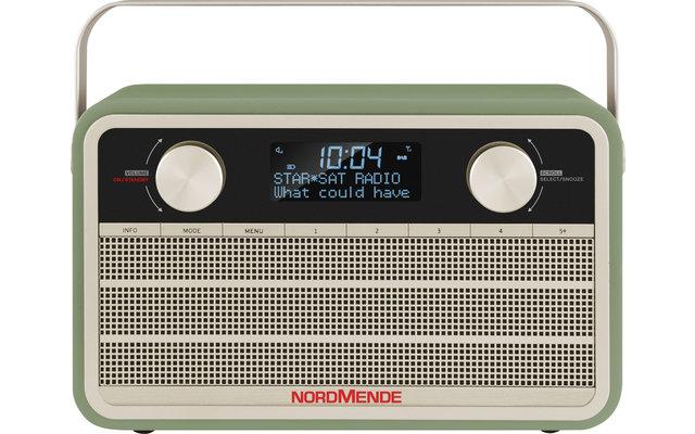 TechniSat Nordmende DAB+ Transita 120 Digitalradio im Retrolook mit 24-Stunden-Akku Grün