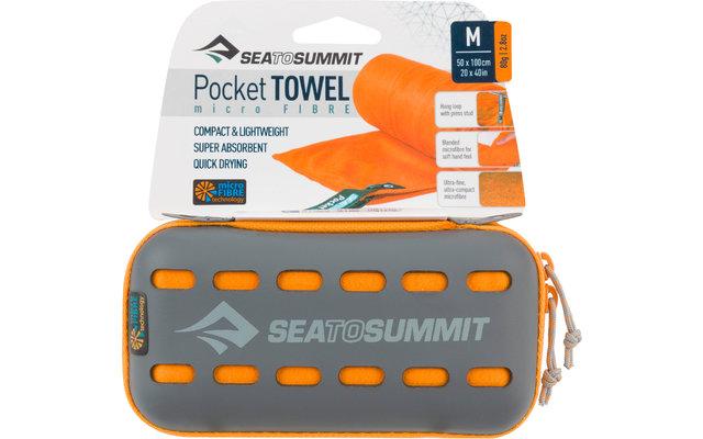 Sea to Summit Pocket Mikrofaser Handtuch Medium Orange