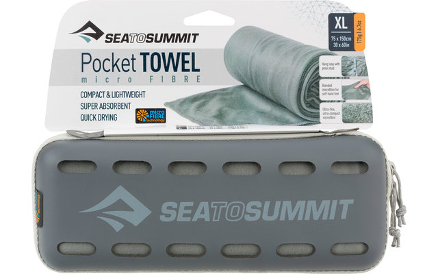 Sea to Summit Pocket Mikrofaser Handtuch X-Large Grau