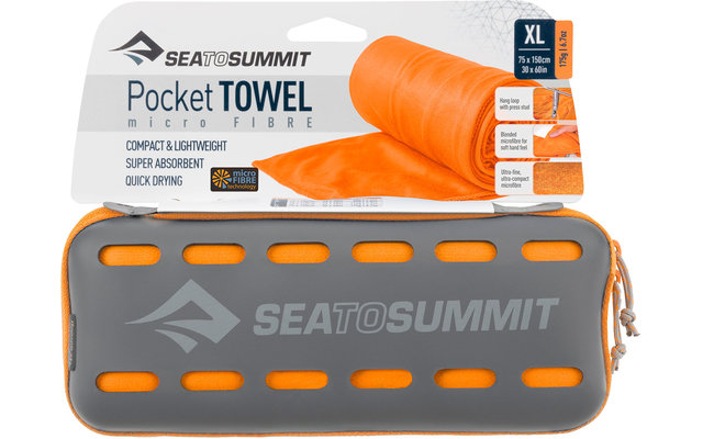 Sea to Summit Pocket Mikrofaser Handtuch X-Large Orange