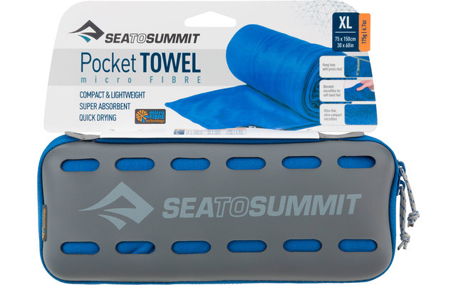 Sea to Summit Pocket Mikrofaser Handtuch X-Large Cobalt