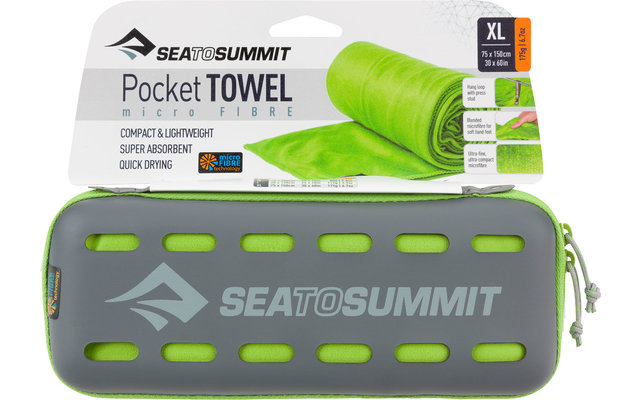 Sea to Summit Pocket Mikrofaser Handtuch X-Large Lime