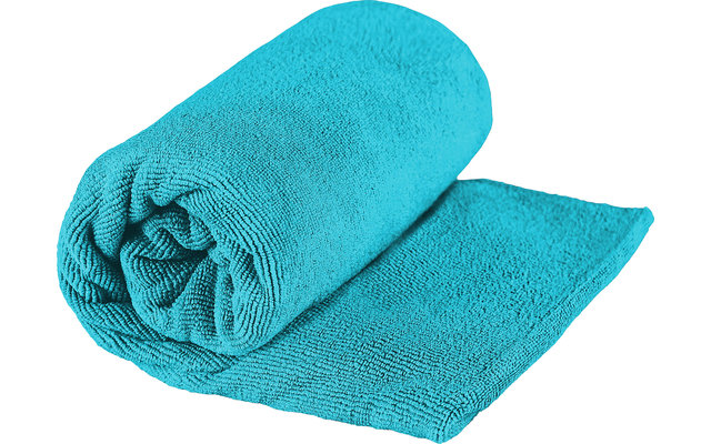 Sea to Summit TEK Frottee Mikrofaser Handtuch Small Pacific Blau