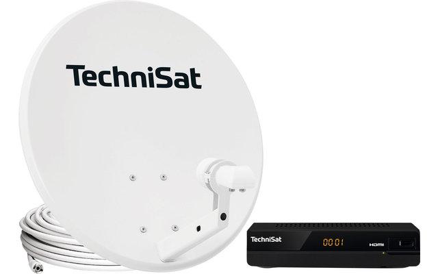 TechniSat Technitenne 60 cm Sat-Antenne mit Receiver HD-S211 (Twin LNB)