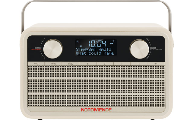 TechniSat Nordmende DAB+ Transita 120 Digitalradio im Retrolook mit 24-Stunden-Akku Beige