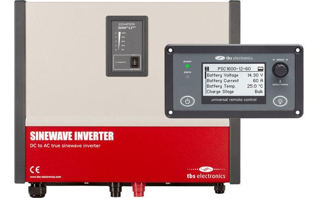 tbs electronis Powersine 200-12 Wechselrichter mit RemoteControl 150 Watt