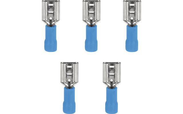 InnTec Flachsteckhülsen Blau 6,3 mm (5er Set)