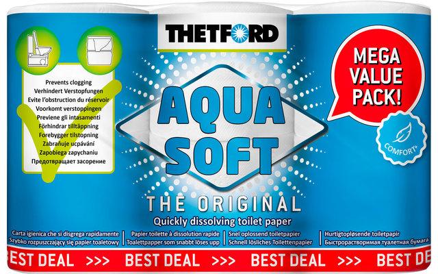 Thetford Aqua Soft Comfort+ Toilettenpapier Vorteilspackung (6 statt 4 Rollen)