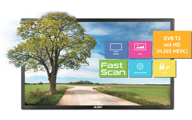 """Alden Ultrawide LED Fernseher 22"""""""