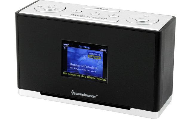 Soundmaster UR240SW DAB+/UKW Uhrenradio mit Farbdisplay schwarz
