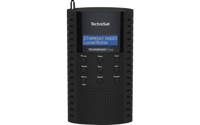 TechniSat TechniRadio Solar DAB+/UKW Solarradio schwarz