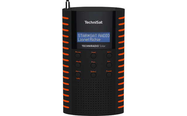 TechniSat TechniRadio Solar DAB+/UKW Solarradio schwarz/orange