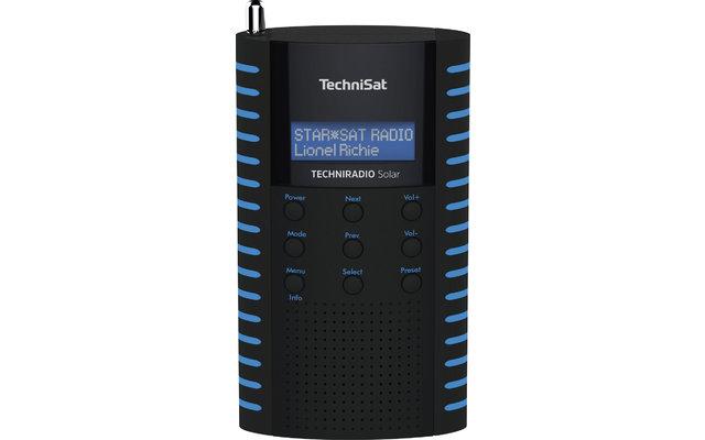 TechniSat TechniRadio Solar DAB+/UKW Solarradio  schwarz/blau