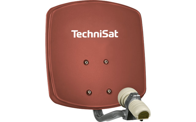 TechniSat Digidish 33 SAT-Antenne (Single-LNB) ziegelrot
