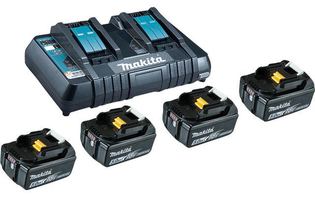 Makita LXT Power Source-Kit Li 18 V / 5 Ah 4 Akkus mit Schnellladegerät