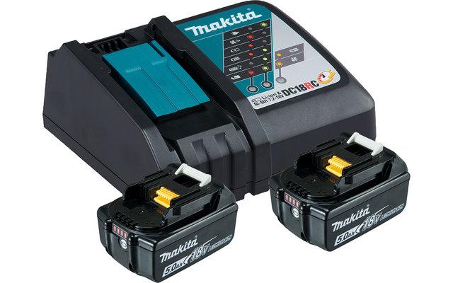 Makita LXT Power Source-Kit Li 18 V / 5 Ah 2 Akkus mit Schnellladegerät