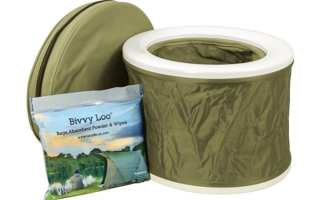 Bivvy Loo tragbare Campingtoilette inkl. Tragetasche Green