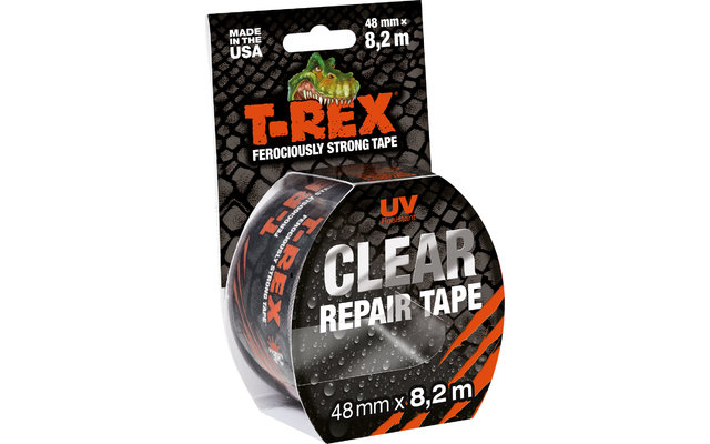 T-Rex UV-beständiges Reperaturklebeband durchsichtig 8,2 m x 48 mm