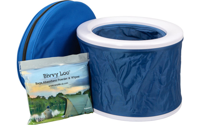 Bivvy Loo tragbare Campingtoilette inkl. Tragetasche Blue