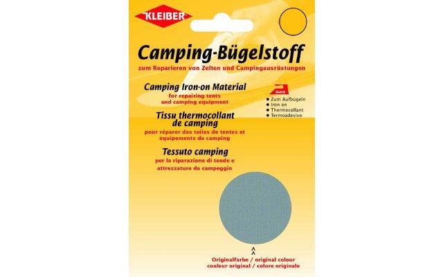 Kleiber Camping-Bügelstoff aus Original-Zeltstoff Grau
