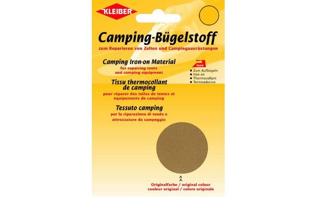 Kleiber Camping-Bügelstoff aus Original-Zeltstoff Sand