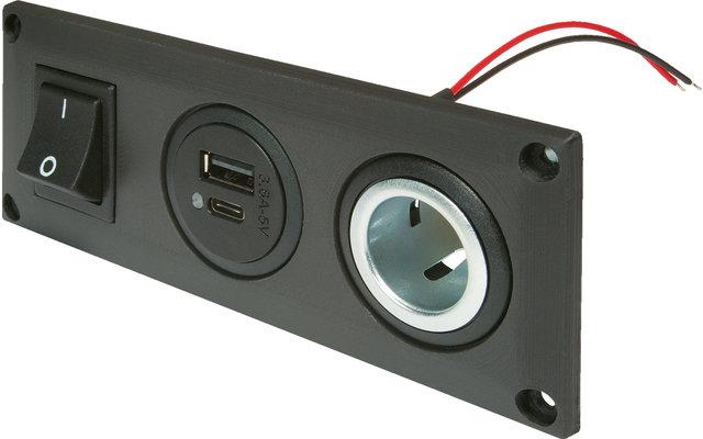 Pro Car Einbausteckdose mit USB-C/A Doppelsteckdose
