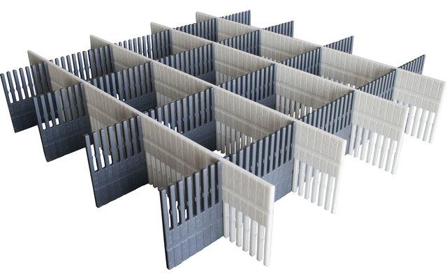 Purvario Pure Light Edition Stauleisten Set für Schubladen 8 Stück anthrazit / grey