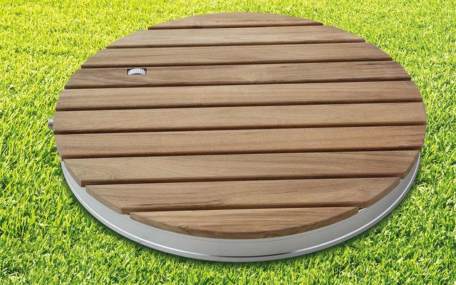 Breuer Fontana Gartendusche / Bodendusche Holz rund