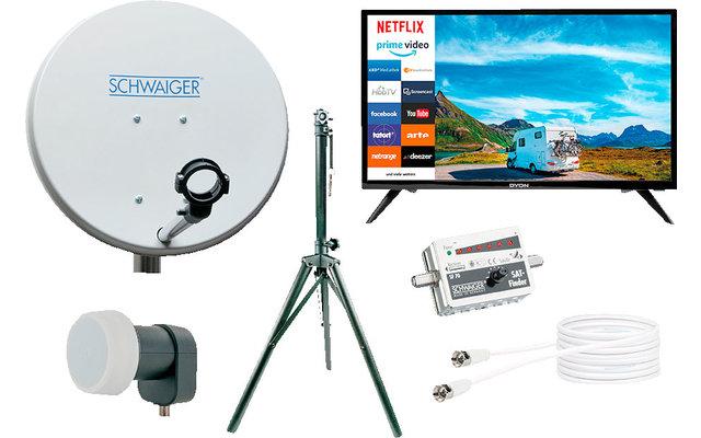 Schwaiger Camping Sat-Anlage Set mit Smart TV 24''