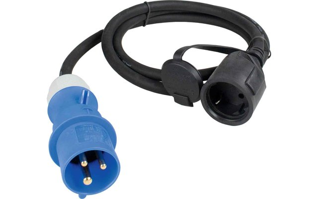 CEE-Adapterleitung 3-polig auf Schutzkontakt-Kupplung 1,5 m