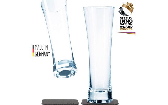 Silwy Magnet-Kristallgläser Bier mit Untersetzer 330 ml 4-tlg.