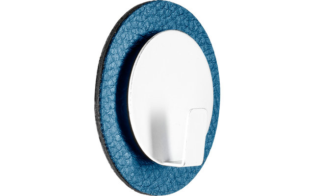 Silwy Clever Magnethaken inkl. Metall Nano Gel Pad 5 cm 2 tlg. blau
