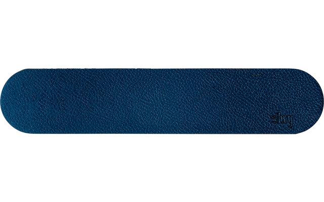 Silwy Magnet Metall-Leiste 25 cm mit Ledercoating blau